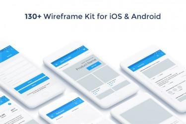 安卓版app线框图 UI Kit