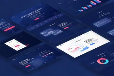 区块链网站着陆页设计模板