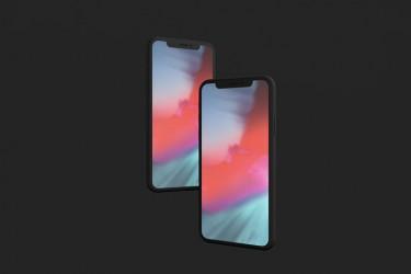 3D渲染效果的多角度iPhone X样机