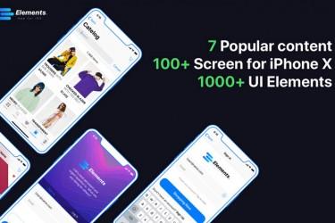 多用途手机app界面设计UI Kit