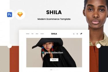 时尚的电子商务网站ui设计模板