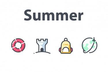 23个关于夏天的图标素材
