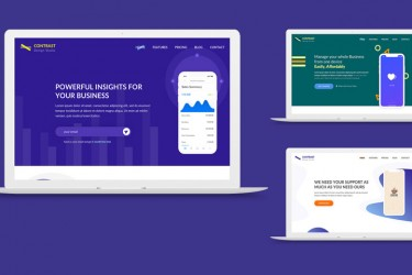 创新的app网站着陆页设计模板