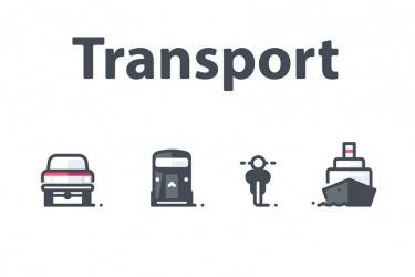 16个设计精美的交通工具图标