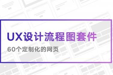 网页UX设计流程图套件