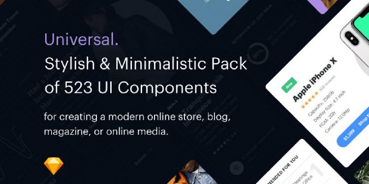 强大的网页设计UI组件包素材
