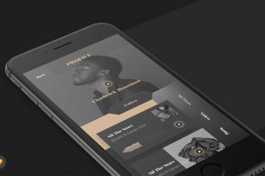 优雅风格音乐app界面设计模板