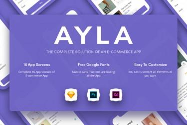 极简设计的电商app UI kit