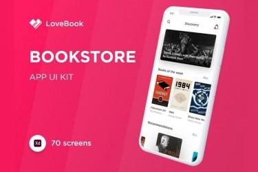 在线电子书、音频书的app界面设计模板