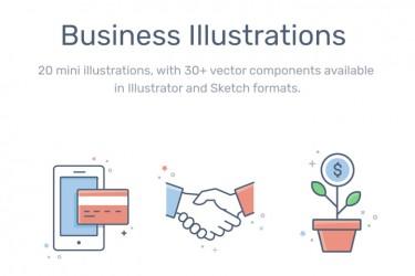 商业与金融用途的插图素材