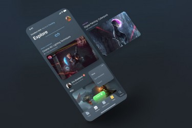 设计师社区社交app界面设计模板
