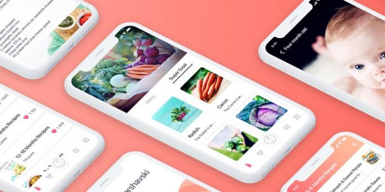 儿童健康跟踪app界面设计模板
