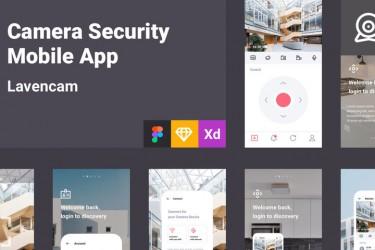 网络安全监控app界面设计模板
