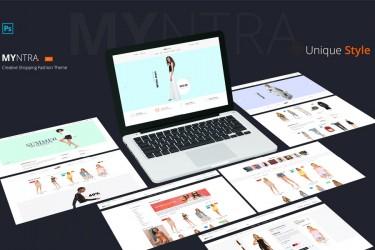 创意的服装类电商网页设计模板
