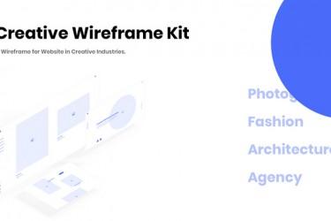 创意类网站的网页线框图模板