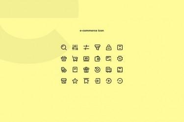 24个精致的电子商务图标素材