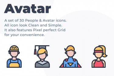 30个各类职业的头像图标