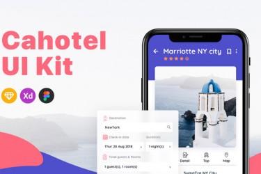 旅行酒店预定app界面设计模板