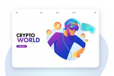 未来感的加密货币插画素材