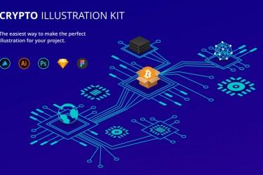区块链加密货币项目用途的插图素材