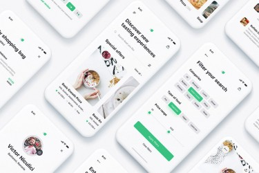 Adobe XD格式的外卖送餐app界面设计模板