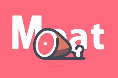 18个各类肉的图标素材