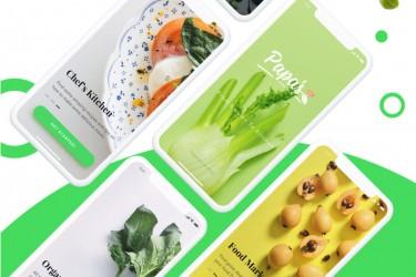 有机蔬菜app界面设计模板