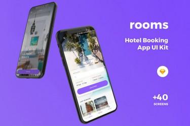 高品质的酒店预定app界面 UI Kit