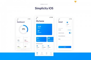 极简设计的iOS界面设计模板
