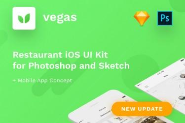 精美的餐厅推荐app界面设计模板