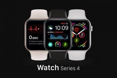 免费的sketch格式Apple Watch Series 4样机下载
