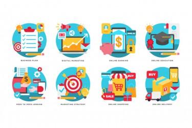 16个商业服务相关的插画素材