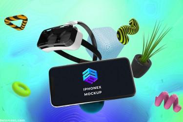多个设备的3D效果样机素材