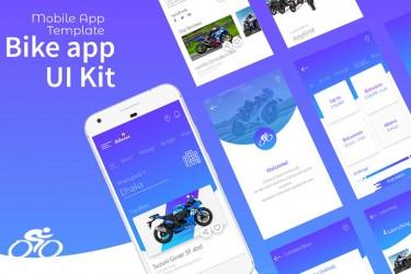 骑行爱好者的app界面设计模板