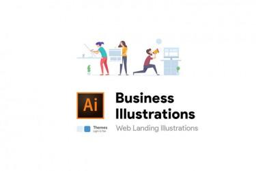 8个设计现代的商务矢量插画素材