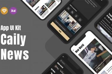 新闻杂志类APP界面设计素材模板