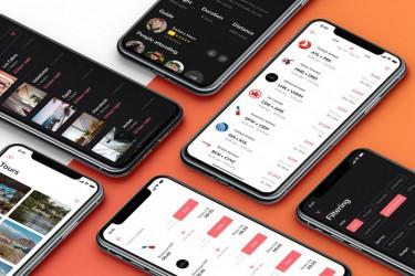 iOS版旅行APP界面设计素材模板