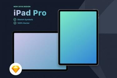 2018年新款iPad Pro sketch格式样机