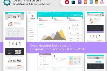 医院网站html+psd模板