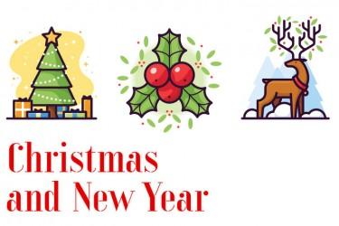10个圣诞节和新年的插画素材