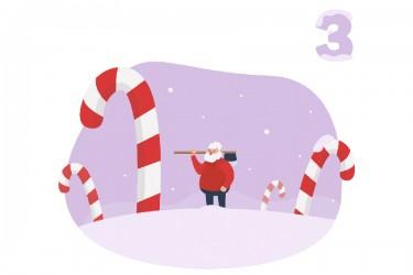 圣诞老人人物角色的插画素材