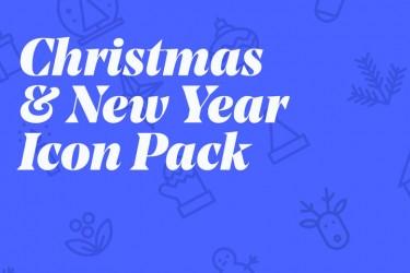 25个圣诞和新年主题的图标素材