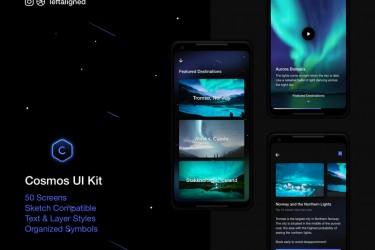 旅游出行android app界面设计模板