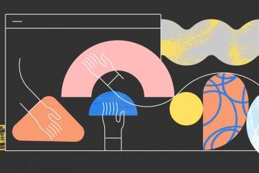 Adobe公司的统一形象的插画设计