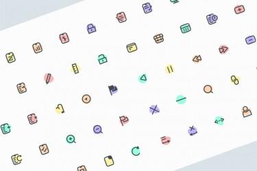 50个文件管理图标素材