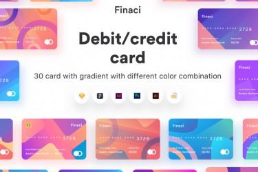 银行金融卡片插图ui素材