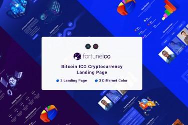 加密货币ICO网站的着陆页设计模板