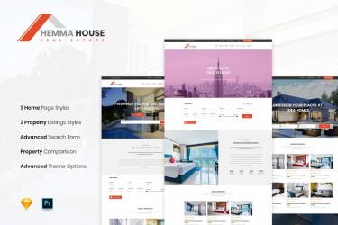 房地产网站的网页设计模板