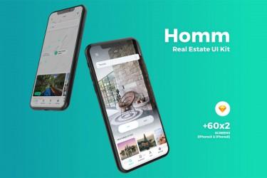 找房卖房交易平台app的界面设计模板