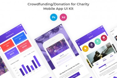 慈善众筹类APP UI界面设计模板